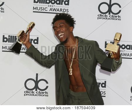 LAS VEGAS - MAY 21:  Desiigner, Sidney Royel Selby III at the 2017 Billboard Awards Press Room at the T-Mobile Arena on May 21, 2017 in Las Vegas, NV