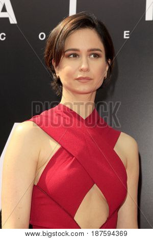 LOS ANGELES - MAY 17:  Katherine Waterston at the Ridley Scott Hand and Foot Print Ceremony at the TCL Chinese Theater on May 17, 2017 in Los Angeles, CA