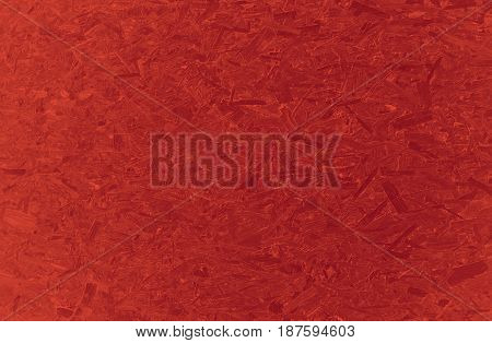 Red textured wooden pressed particle chip board texture background