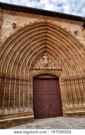 Aranda de Duero is the capital of the Ribera del Duero wine region. Church of Saint John, San Juan