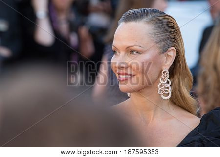 Pamela Anderson at the 120 Beats Per Minute (120 Battements Par Minute)  premiere for at the 70th Festival de Cannes.May 20, 2017 Cannes, France