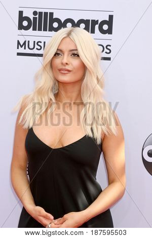 LAS VEGAS - MAY 21:  Bebe Rexha at the 2017 Billboard Music Awards - Arrivals at the T-Mobile Arena on May 21, 2017 in Las Vegas, NV