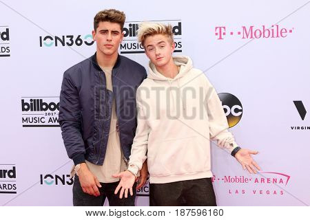 LAS VEGAS - MAY 21:  Jack Gilinsky, Jack Johnson at the 2017 Billboard Music Awards - Arrivals at the T-Mobile Arena on May 21, 2017 in Las Vegas, NV