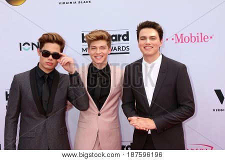 LAS VEGAS - MAY 21:  Emery Kelly, Ricky Garcia, Liam Attridge at the 2017 Billboard Music Awards - Arrivals at the T-Mobile Arena on May 21, 2017 in Las Vegas, NV