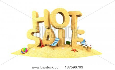 HOT SALE - words of sand. 3d illustration