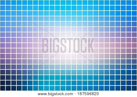 Blue Shades Pink Square Mosaic Background Over White