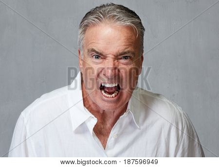 Angry senior man