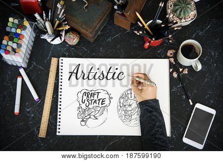 Hand Writing Artistic Artwork Words