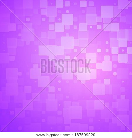 Purple Pink Glowing Rounded Tiles Background