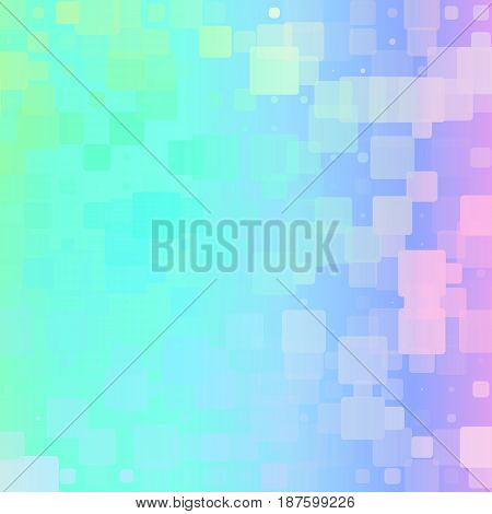 Light Rainbow Glowing Rounded Tiles Background