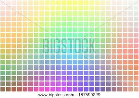 Light Rainbow Abstract Rounded Mosaic Background Over White