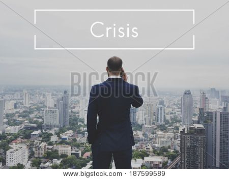 Businessman Investment Risk Crisis Word