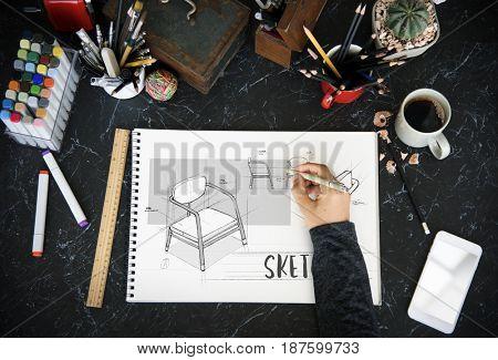 Brainstorming Teamwork sharing Sketch Design