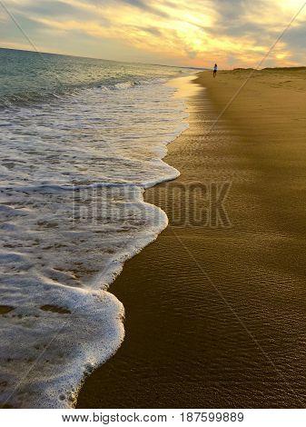 Sunset on the beach in Martha's Vineyard