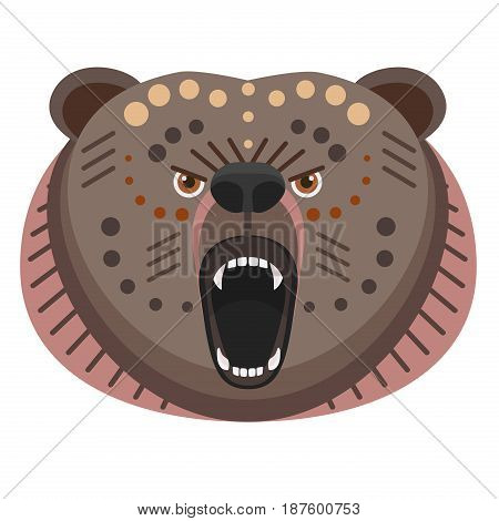 Roaring bear Head Logo. Vector decorative Emblem