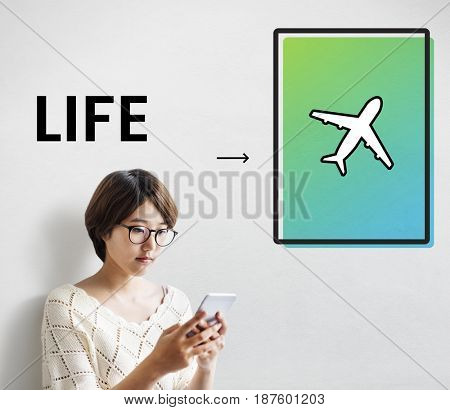 Airplane Icon Arrow Symbol Travel