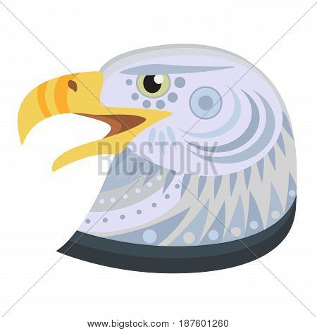 Bald eagle head Logo. Vector decorative Emblem