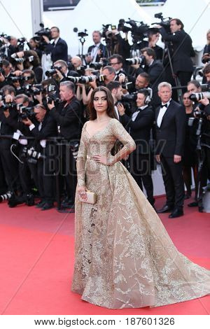 :Soonam Kapoor attends the 'The Killing Of A Sacred Deer' screening during the 70th Cannes Film Festival at Palais des Festivals on May 22, 2017 in Cannes, France.