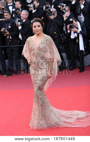 Eva Longoria attends the 'The Killing Of A Sacred Deer' screening during the 70th Cannes Film Festival at Palais des Festivals on May 22, 2017 in Cannes, France.