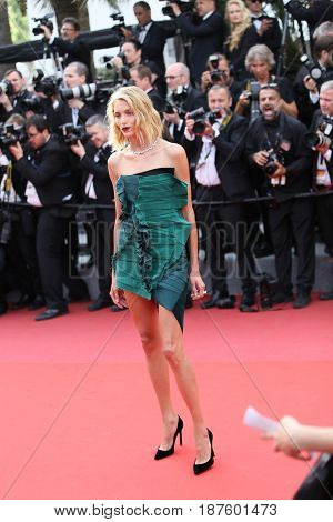 Anja Rubik attends the 'The Killing Of A Sacred Deer' screening during the 70th Cannes Film Festival at Palais des Festivals on May 22, 2017 in Cannes, France.