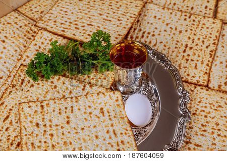 Jewish holiday Pesah celebration concept jewish Passover holiday Passover matzah