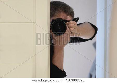 Portrait of a paparazzi