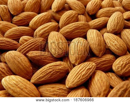 whole almond shallow dof background