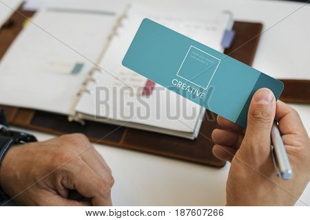 Hand design the identity branding business trademark