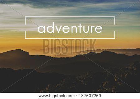 Travel Explore Adventure Journey Word Graphic