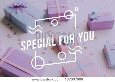 Special For You Gift Present Word Graphic