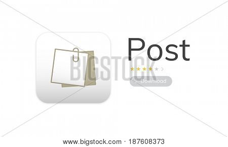 Illustration of personal organizer notepad