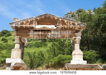Fountain of Trajan in Ephesus, izmir, Turkey