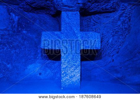 Catedral de Sal. Salt Cathedral of Zipaquira Cundinamarca in Colombia, South America