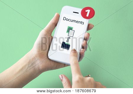 Data Information Sharing File Folder Graphic