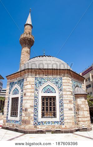 Konak Mosque also known as Yalı Mosque . It was built in 1755 it is located in Konak Square. Izmir. Turkey.