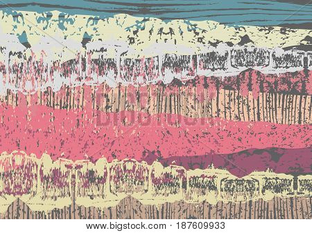 Creative abstract textured background. Colorful daub. Retro design. Art. Vector illustration eps10