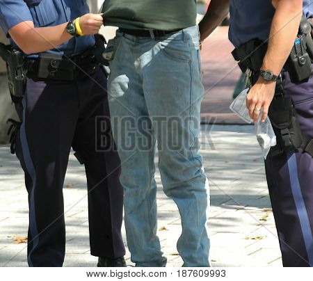 SEPT 11, 2005. SEATTLE, WA. CIRCA: African american male arrested for shoplifting in Seattle, Wa.