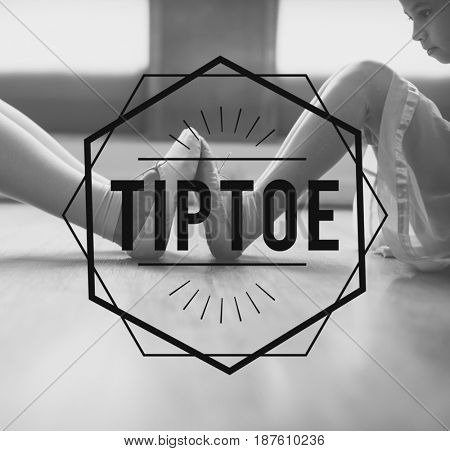 Ballerina Training Perform Elegance Icon