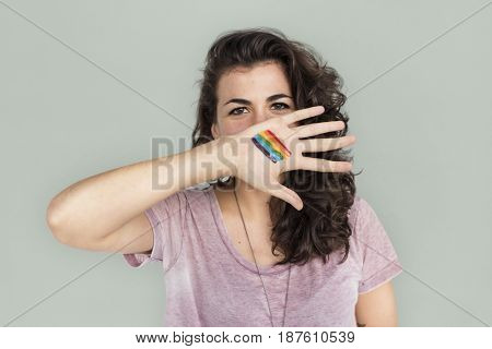 Woman Casual LGBT Portrait Photography Concept
