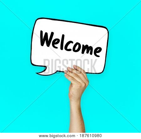 Welcome phrase available launch open