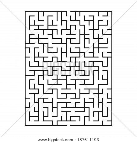 Abstract maze / labyrinth with entry and exit. Vector labyrinth 145.
