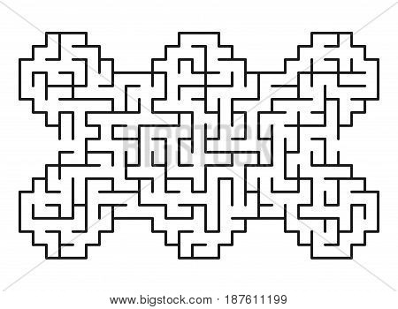 Abstract maze / labyrinth with entry and exit. Vector labyrinth 144.
