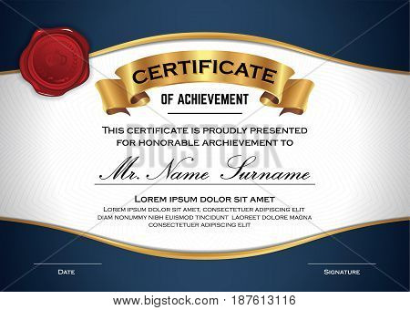 Multipurpose Professional Certificate Template Design for Print. Vector illustration