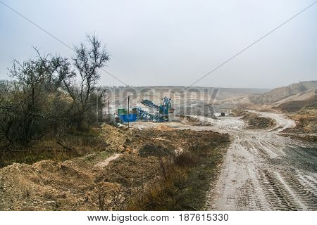 Road In The Clay Quarry