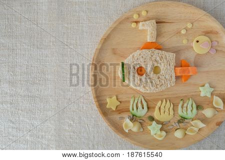 lunch plate fun food art for kids