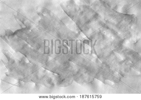Dark Grey Watercolor Background For Wallpaper. Aquarelle Color Illustration