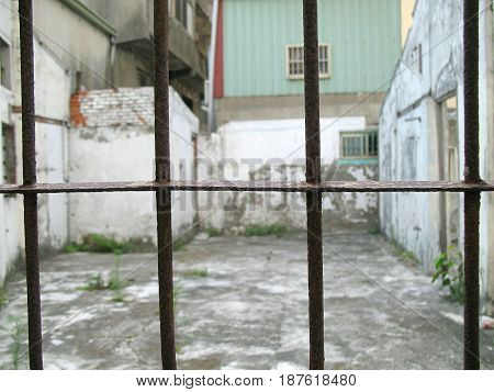 Old Window Iron Bars