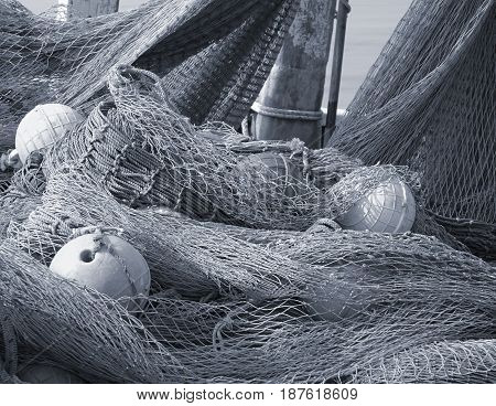 Old Fishing Nets With Floats