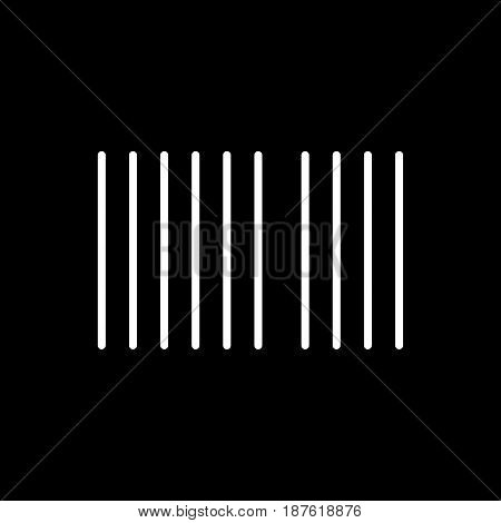 Barcode vector icon. Black and white barcode illustration. Outline linear icon. eps 10