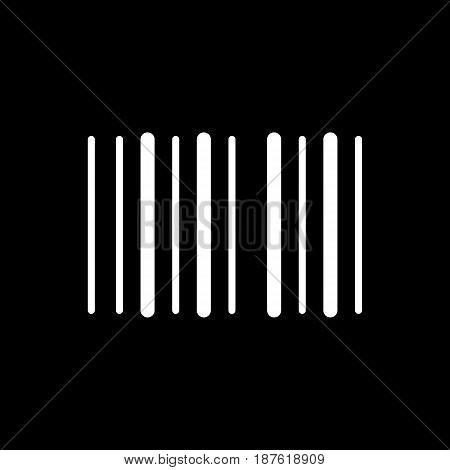 Barcode vector icon. Black and white barcode illustration. Solid linear icon. eps 10